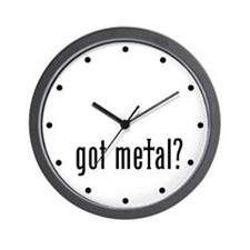 got metal? Wall Clock