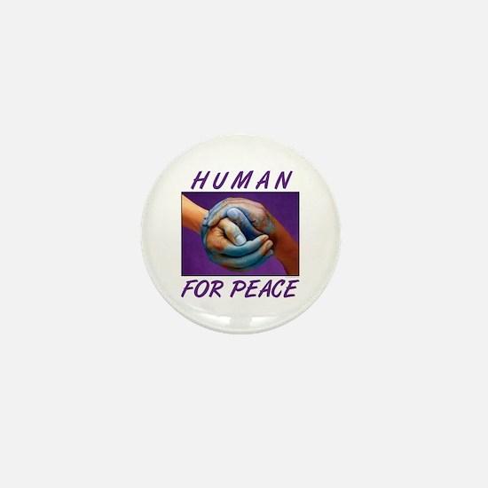Human For Peace Mini Button