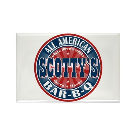 Scotty's All American BBQ Rectangle Magnet