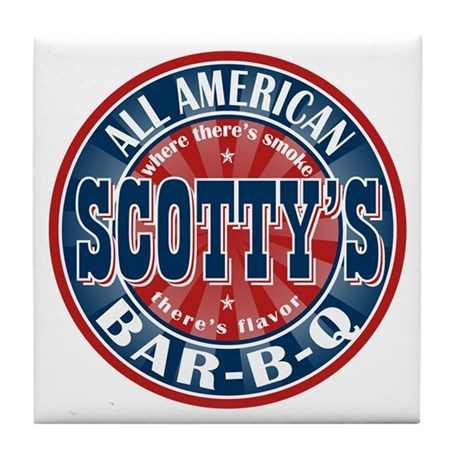 Scotty's All American BBQ Tile Coaster