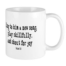Play psalm 33:3 Small Mug