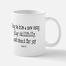 Play psalm 33:3 Small Small Mug