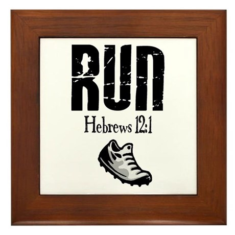 Hebrews Run Framed Tile