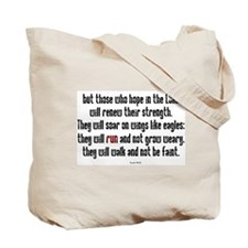 Isaiah 40:31 Run Tote Bag