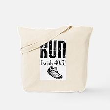 Isaiah 40:31 Run Tote Bag