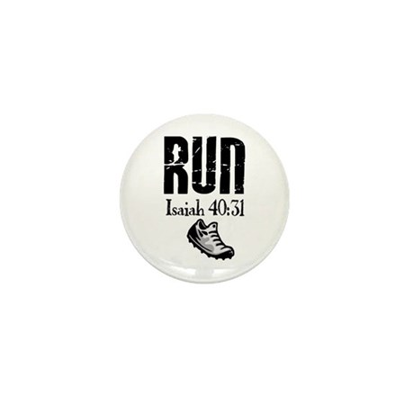 Isaiah 40:31 Run Mini Button (10 pack)