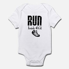 Isaiah 40:31 Run Infant Bodysuit