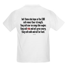 Isaiah 40:31 Run Kids T-Shirt