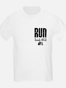 Isaiah 40:31 Run Kids T-Shirt