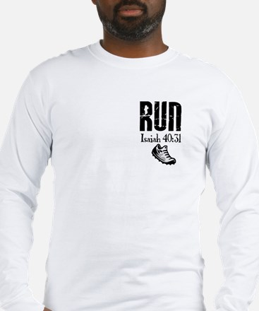 Isaiah 40:31 Run Long Sleeve T-Shirt