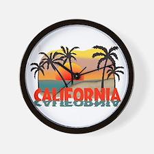 California Sunset Souvenir Wall Clock