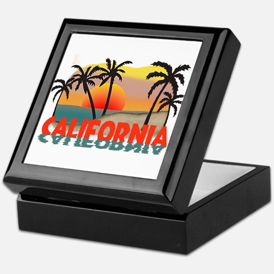 California Sunset Souvenir Keepsake Box