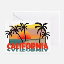 California Sunset Souvenir Greeting Card