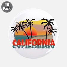 """California Sunset Souvenir 3.5"""" Button (10 pack)"""