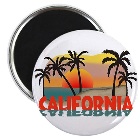 "California Sunset Souvenir 2.25"" Magnet (100 pack)"
