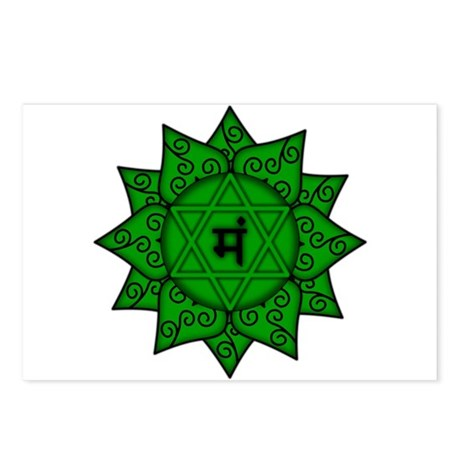 Heart Chakra Mandala Postcards (Package of 8)