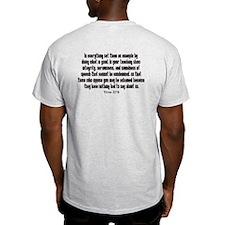 Integrity Bible verse T-Shirt