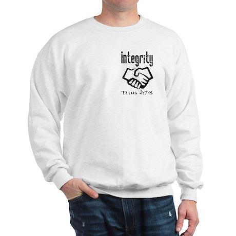 Integrity Bible verse Sweatshirt