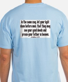 Matthew 5:16 shine Ash Grey T-Shirt