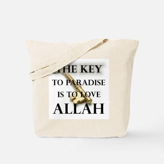 key to paradise love Allah Tote Bag