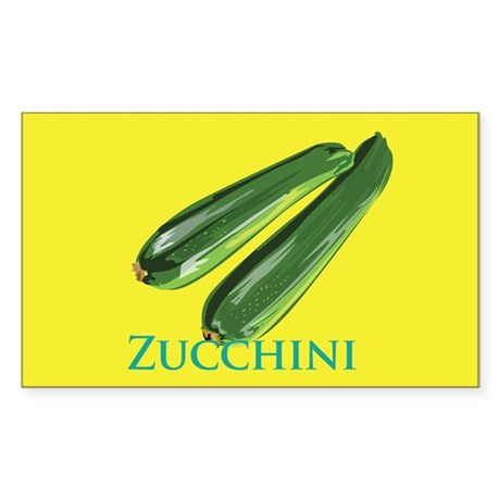 Zucchini Squash Rectangle Sticker