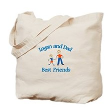 Logan and Dad - Best Friends Tote Bag