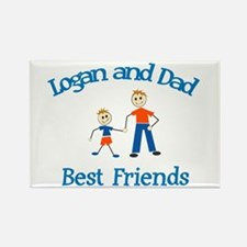 Logan and Dad - Best Friends Rectangle Magnet