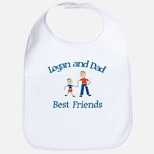 Logan and Dad - Best Friends Bib