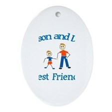 Mason and Dad - Best Friends Oval Ornament