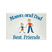 Mason and Dad - Best Friends Rectangle Magnet