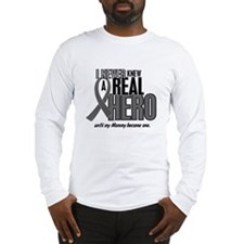 Never Knew A Hero 2 Grey (Mommy) Long Sleeve T-Shi