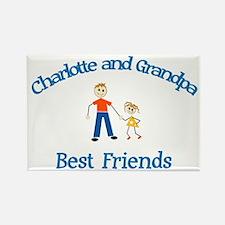 Charlotte & Grandpa - Best Fr Rectangle Magnet