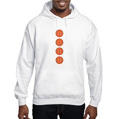 Orange Buttons Hoodie