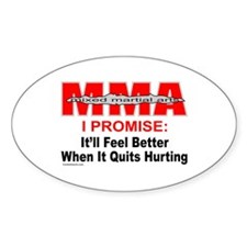 MMA MIXED MARTIAL ARTS Oval Decal
