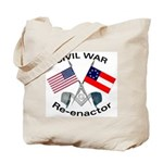 Masonic Civil War Re-enactor Tote Bag