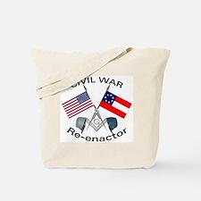 Masonic Civil War Re-enactor Tote Bag