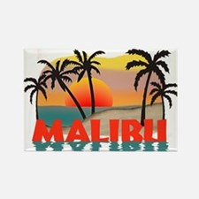 Malibu Beach California Souvenir Rectangle Magnet