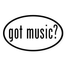 got music? Oval Decal