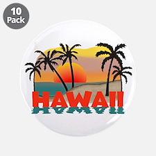 """Hawaiian / Hawaii Souvenir 3.5"""" Button (10 pack)"""