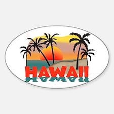 Hawaiian / Hawaii Souvenir Oval Decal