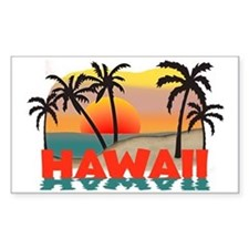 Hawaiian / Hawaii Souvenir Rectangle Decal