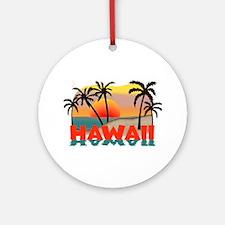 Hawaiian / Hawaii Souvenir Ornament (Round)