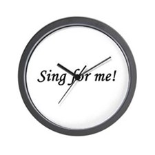 Sing for me! Wall Clock