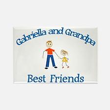 Gabriella & Grandpa - Best Fr Rectangle Magnet