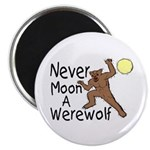 Moon A Werewolf Magnet