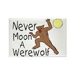 Moon A Werewolf Rectangle Magnet
