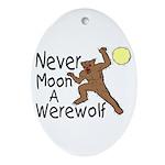 Moon A Werewolf Oval Ornament
