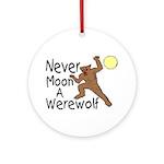 Moon A Werewolf Ornament (Round)