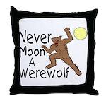 Moon A Werewolf Throw Pillow