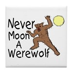 Moon A Werewolf Tile Coaster